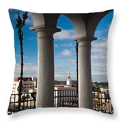 City Viewed Through From The Santa Throw Pillow