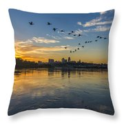 City Wakes Throw Pillow