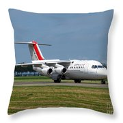 Cityjet British Aerospace Avro Rj85 Throw Pillow