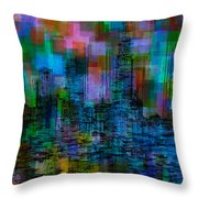Cityscape 5 Throw Pillow by Jack Zulli