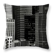 Cityscape In Black And White Throw Pillow