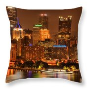 Cityscape Of Color Throw Pillow