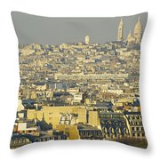 Cityscape Of Paris Paris, France Throw Pillow by Ingrid Rasmussen