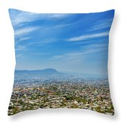 Cityscape Of Tuxtla Chiapas Throw Pillow