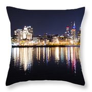 Cityscape - Philadelphia Throw Pillow