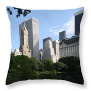Cityview Form Central Park Throw Pillow