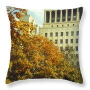 Civil Court Building Throw Pillow