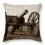 Civil War Cannon Throw Pillow by Olivier Le Queinec