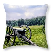 Civil War Cannons Throw Pillow