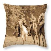 Civil War Fight Throw Pillow