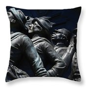 Civil War Figures Throw Pillow