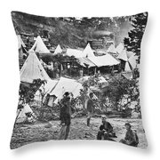 Civil War Hospital, 1860s Throw Pillow