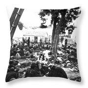 Civil War Hospital, 1862 Throw Pillow