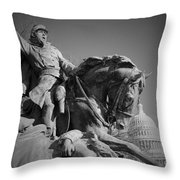 Civil War In Washington Throw Pillow