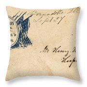 Civil War Letter 25 Throw Pillow