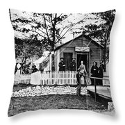Civil War: Military Hospital Throw Pillow