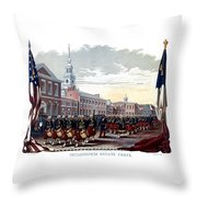 Civil War Philadelphia Zouave Corps Throw Pillow