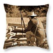Civil War Soldier  Throw Pillow