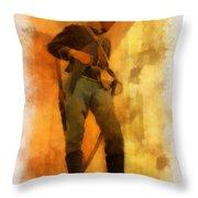 Civil War Soldier Photo Art Throw Pillow