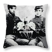 Civil War Whiskey And Cards  C. 1863 Throw Pillow