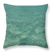 Clear Water Of Guam Throw Pillow