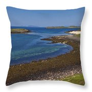 Claigan Coral Beach Throw Pillow