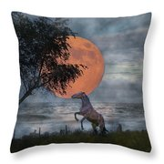 Claiming The Moon Throw Pillow by Betsy Knapp