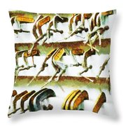 Clamping Down  Throw Pillow