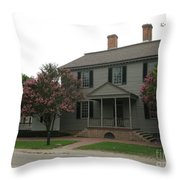 Clapboard House Colonial Williamsburg Throw Pillow
