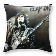 Clapton Throw Pillow