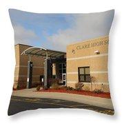 Clare High School Throw Pillow