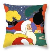 Clarice Cliff Santa Throw Pillow