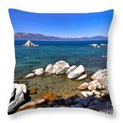 Clarity - Lake Tahoe Throw Pillow