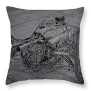 Clark And The Lotus 25 Throw Pillow
