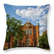 Clark Hall - University Of Alabama Throw Pillow