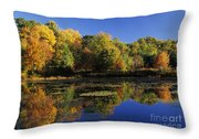 Clark Pond - Auburn New Hampshire  Throw Pillow