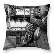 Jazz Clark Terry Throw Pillow