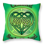 Clarke Soul Of Ireland Throw Pillow