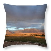 Clarks Fork Rainbow Throw Pillow by Roger Snyder
