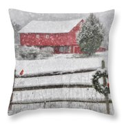 Clarks Valley Christmas 2 Throw Pillow