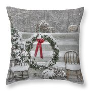 Clarks Valley Christmas 3 Throw Pillow by Lori Deiter