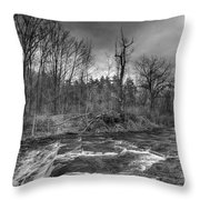 Clarksburg Falls 1833 Throw Pillow