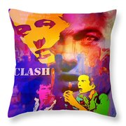 Clash Know Your Rights Throw Pillow