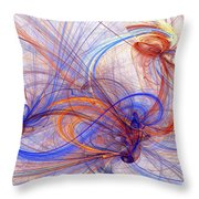 Clash Of Fire And Ice Throw Pillow