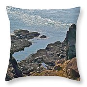 Clashing Tides At Tip Of Cape D'or-ns Throw Pillow