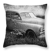 Clasic Car - Pen And Ink Effect Throw Pillow