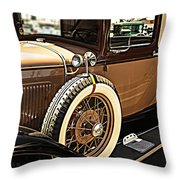 Classic 1928 Ford Model A Sport Coupe Convertible Automobile Car Throw Pillow