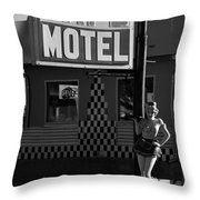 Classic 50s Motel Cafe Throw Pillow