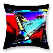 Classic 57 Chevy Art Throw Pillow