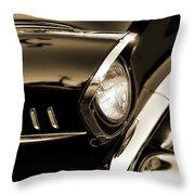 Classic '57 Chevy Bel Air In Sepia  Throw Pillow